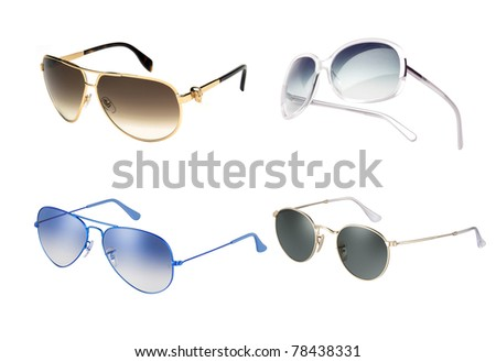 Collection of glamour sun glasses. Vector illustration - stock photo