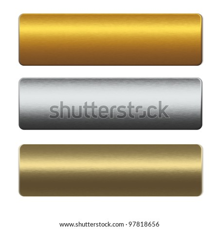 collection of gold and silver metal bars - stock photo