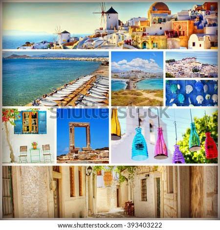 collection of images from the beautiful Greek islands