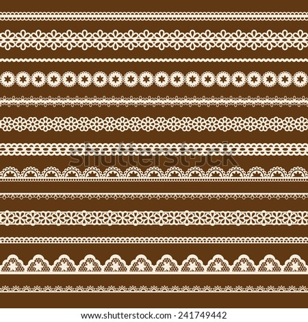 collection of lace - stock photo