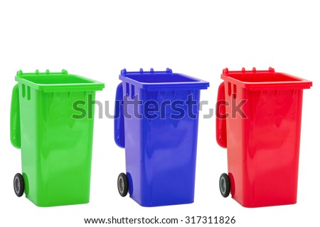Collection of large colorful trash - stock photo