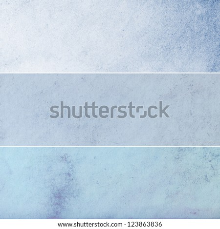 Collection of light blue abstract vintage backgrounds. Various textures. - stock photo