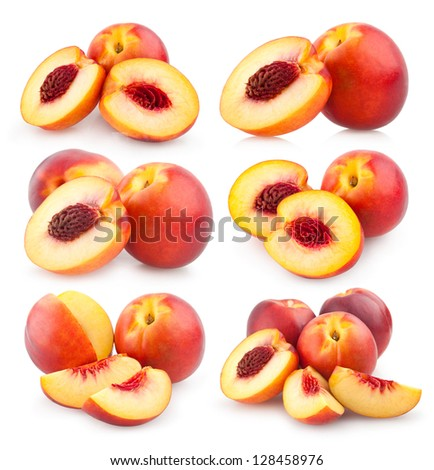 collection of nectarines images - stock photo