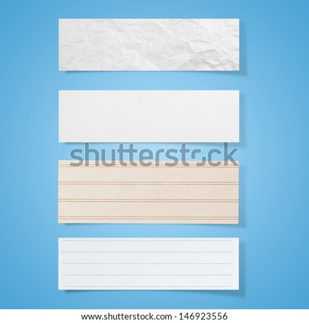 Collection of note papers background
