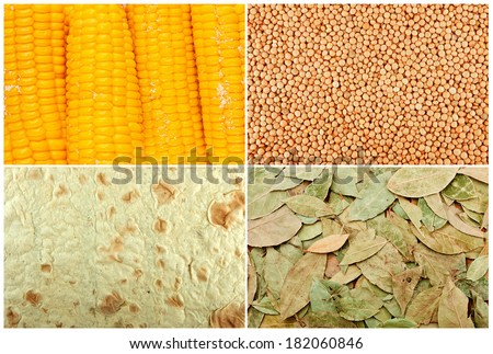 collection of organic textures - stock photo