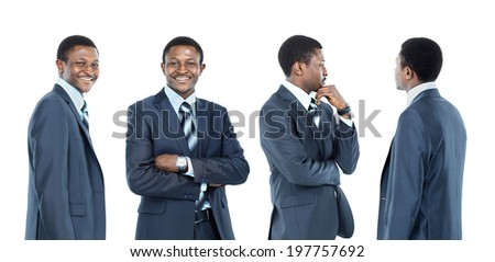 collection of portraits african american business man - stock photo