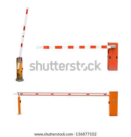 collection of road barrier - stock photo