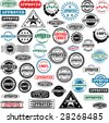 Collection of rubber stamps with text approved. - stock photo