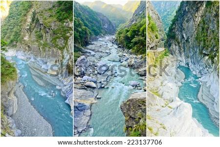 collection of Taroko national park, Taiwan - stock photo