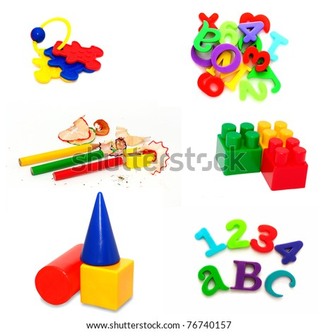 collection of toys - stock photo