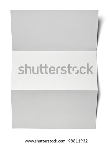 collection of various  blank white paper on white background with clipping path - stock photo