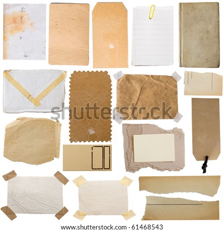 collection of various paper notes - stock photo