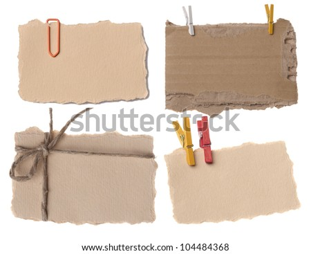 collection of various paper notes or tags