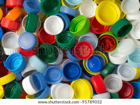 Collection of various plastic screw caps