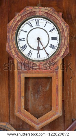 Collection of vintage Clocks background - stock photo