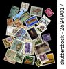 Collection of vintage stamps - stock photo