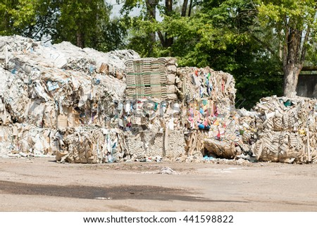 collection of waste paper, recycling waste - stock photo