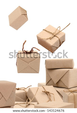Collection of wrapping parcel boxes