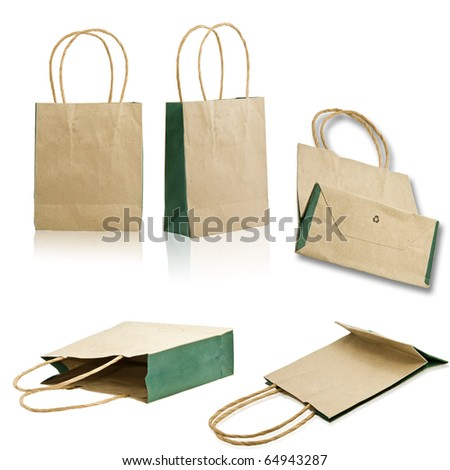 Collection paper bags - stock photo