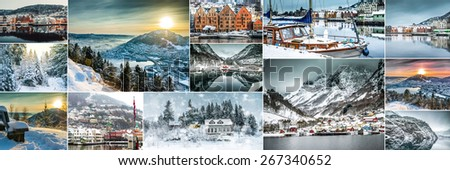 collection photos from Bergen. Norway