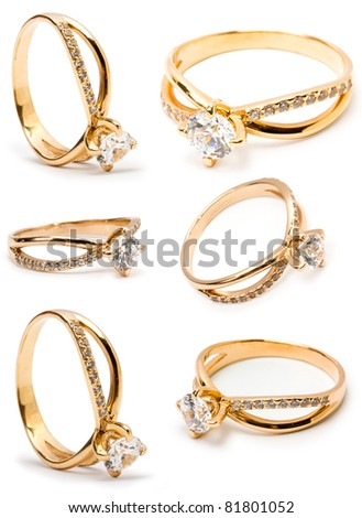 Collection ring isolated on white background - stock photo
