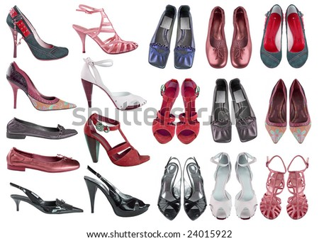 collection shoes - stock photo