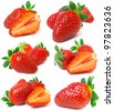 Collection strawberry - stock photo