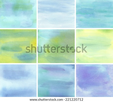 collection watercolor background abstraction