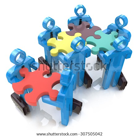 Collective works. Partnership. Teamwork  - stock photo