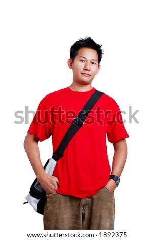 College boy - stock photo