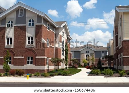 College Campus Housing - stock photo