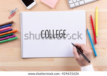 College Concept - stock photo