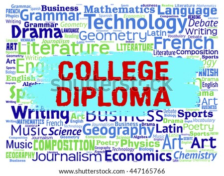 College Diploma Indicating Tutoring Masters And Educating