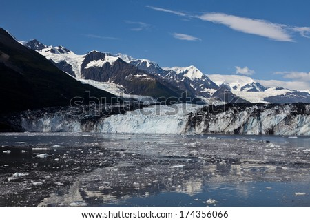 College Fjord melting ice from glacier - stock photo
