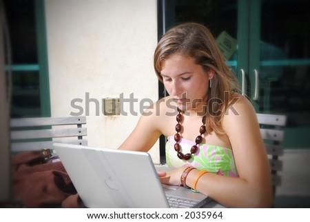 College Girl - stock photo