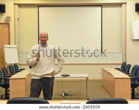 College Lecture Hall - stock photo