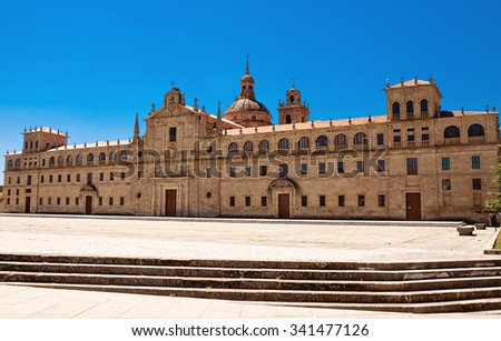 College of Our Lady of Old, Monforte de Lemos, Galicia, Spain  - stock photo
