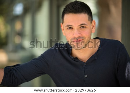 College student outside  - stock photo