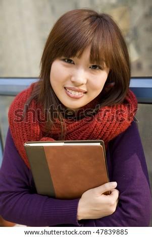 college student portrait - stock photo