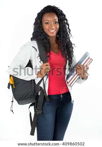 College student young African American - stock photo