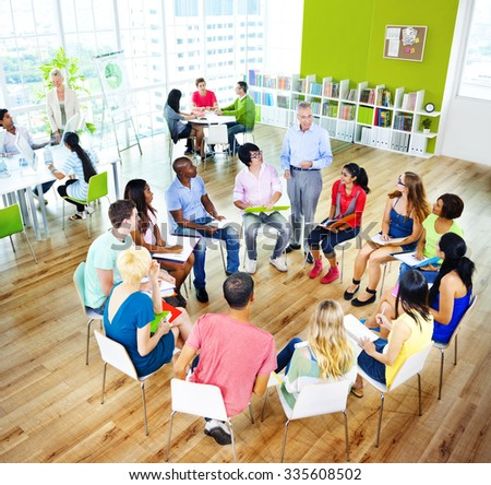 College Students Learning Education University Teaching Concept - stock photo