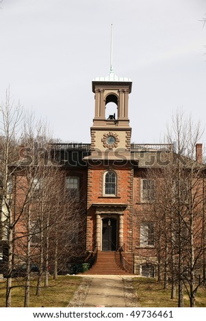 College Tower at Brown University Campus, Providence, Rhode Island. - stock photo