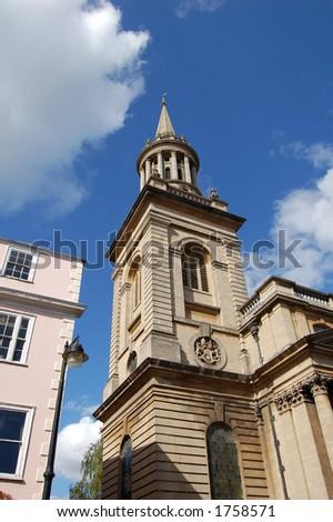 College Tower, Oxford University, Oxford, UK - stock photo