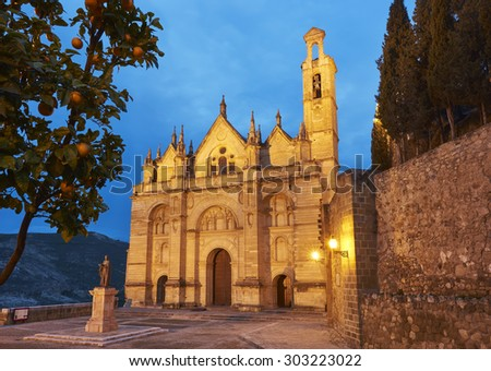 Collegiate Church of Antequera, Malaga. Spain - stock photo