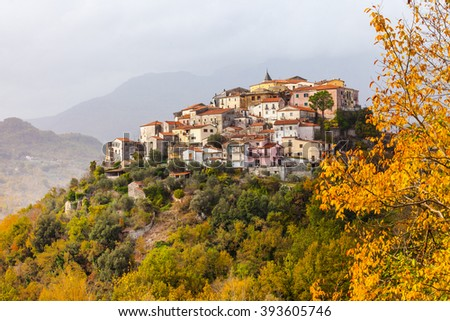 Colli al Volturno - pictorial small village in Molise, Italy - stock photo