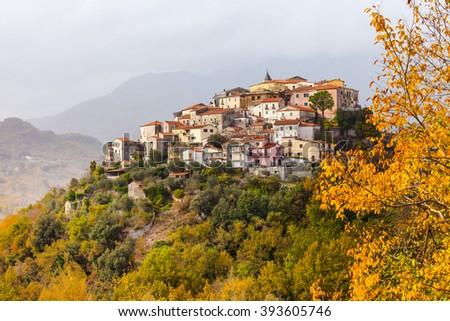 Colli al Volturno - pictorial small village in Molise, Italy - stock photo