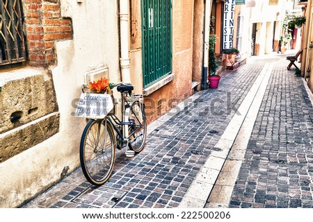 COLLIOURE, FRANCE - JULY  23: View of the small village of Colliure, south France on July 23, 2014 in Collioure, France.  - stock photo