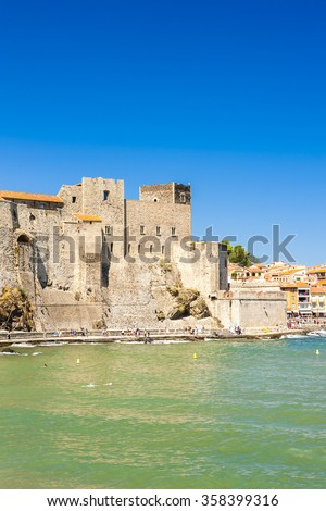 Collioure, Languedoc-Roussillon, France - stock photo