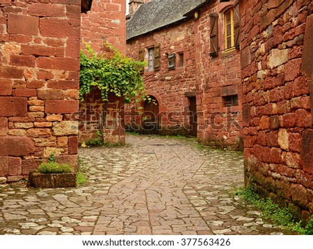 Collonges-la-Rouge, small village in Dordogne, France