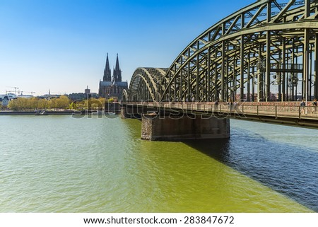Cologne Cathedral and Hohenzollern bridge in germany